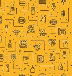 Beer icons background vector