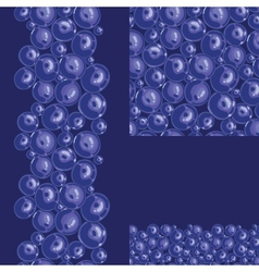 Blueberries seamless pattern background vector