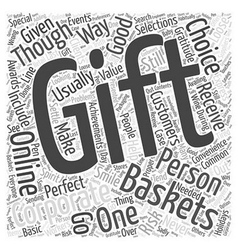 Corporate gift basket online word cloud concept vector