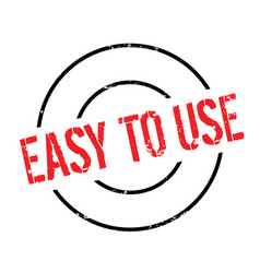 Easy to use rubber stamp vector