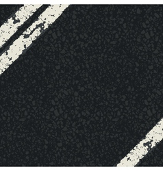 Fragment of asphalt road vector