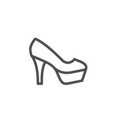 high heel shoe line icon vector image vector image