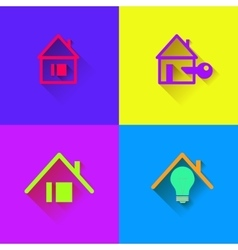 Houses icons set Logos housing vector image vector image