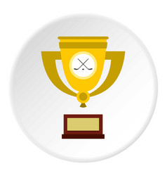 Ice hockey cup icon circle vector