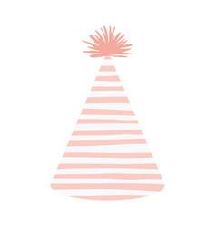 Light pink color silhouette party hat with several vector