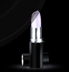 lipstick in black-white vector image vector image