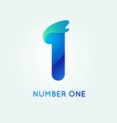 number one in trend shape style vector image