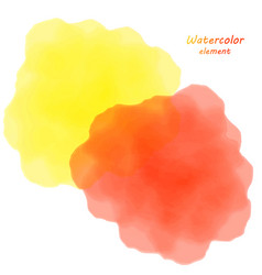 Orange watercolor blotch set of orange watercolor vector