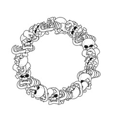 Ring frame of bones anatomy background skeleton vector