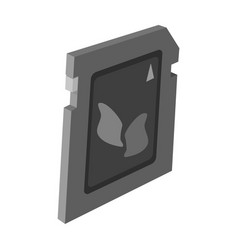 Sd card icon in monochrome style isolated on white vector