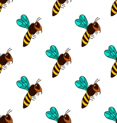 Seamless pattern with bee - 3 vector