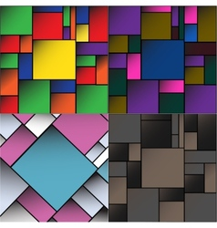 Set colorful square blank batskground with place vector
