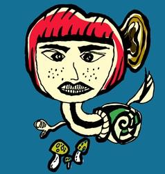 Snail devil abstarct cartoon vector