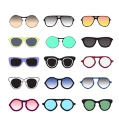 Sunglasses collection colorful vector image vector image