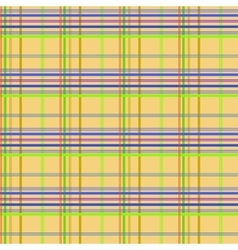 Tartan yellow seamless pattern vector image