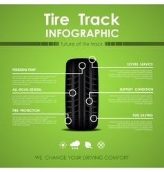 Tire track infographic vector