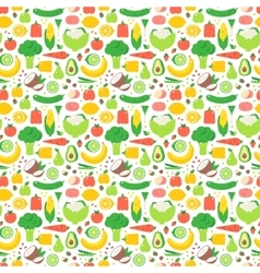 Vegetable seamless pattern garden background vector image