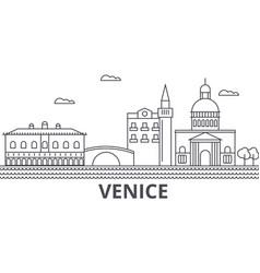 venice architecture line skyline vector image