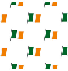 Waving flag of ireland pattern seamless vector