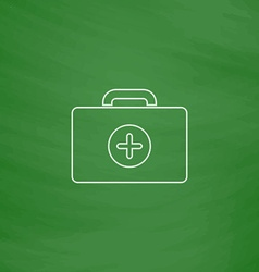 First aid kit computer symbol vector