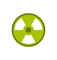 Radioactive sign icon flat style vector