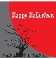 Happy halloween card banner halloween vector