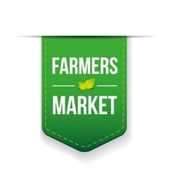 Farmers market green ribbon vector