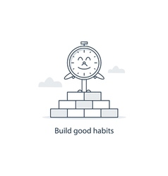 Time to change and develop good habits vector