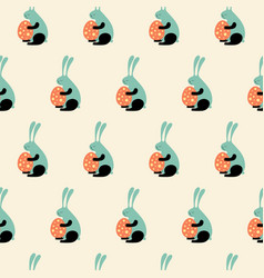 Easter bunny s vector