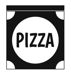 Pizza box cover icon simple style vector