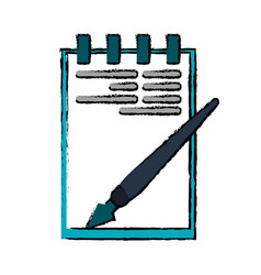 Drawing notepad paper pen writing office vector