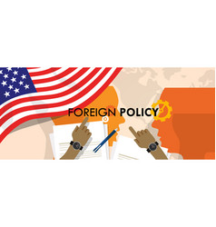 America us foreign policy diplomacy international vector