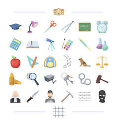 Punishment teaching education and other web icon vector