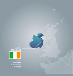 ireland information map vector image