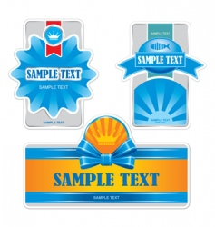 Product labels vector