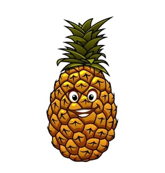 Fun cartoon tropical pineapple fruit vector
