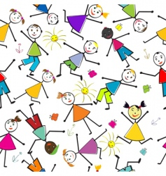 Pattern with children vector
