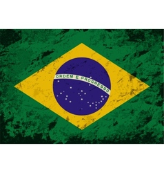 Brazilian flag grunge background vector