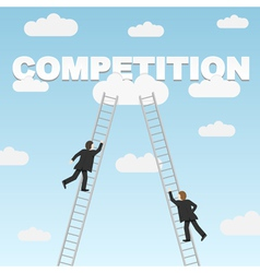 Business competition between two businessmen vector