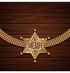 Sheriff badge design vector