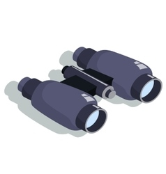 binoculars for approaching objects Isometric vector image vector image