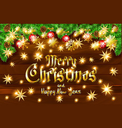 Christmas greeting card and happy new year vector