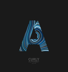 curly textured letter a vector image