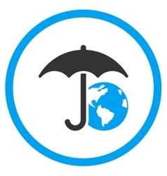 Earth Umbrella Icon vector image vector image