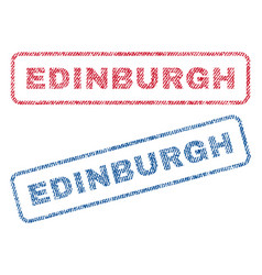 Edinburgh textile stamps vector