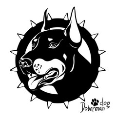 graphic drawing of a dog head service vector image vector image