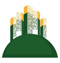 Great city buildings icon vector