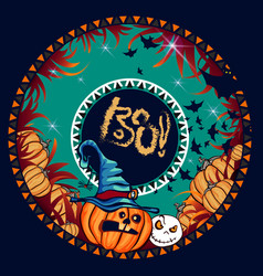 halloween banner dark vector image