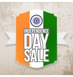India independence day sale tag vector