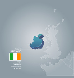ireland information map vector image vector image